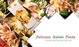 Different photos of Italian pasta Stock Image