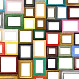 Picture Frames. Different picture frames with white spaces for copy or image Stock Image