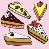 Different pieces of cake Royalty Free Stock Photo