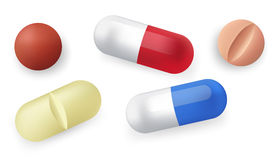 Different pills Stock Photo