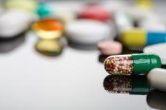 Different pills Stock Photo