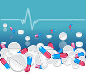 Different pills. Medical background with different pills Stock Image