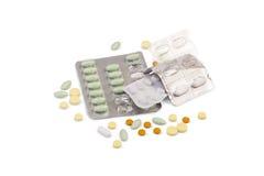 Different pills Stock Photos