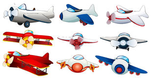 Different plane designs Royalty Free Stock Photo