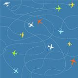Different plane ways abstract scheme Royalty Free Stock Images