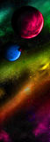 Different planets in outer space Royalty Free Stock Photography