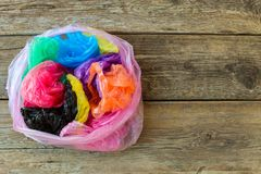 Different Plastic Bags Royalty Free Stock Images
