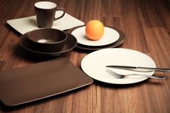 Different plates Royalty Free Stock Image