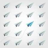 Different polygon paper plane. Vector Stock Photos