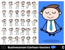 Different Poses Cartoon Professional Businessman. Vector design vector illustration