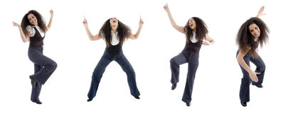 Different poses of dancing woman Royalty Free Stock Image