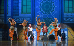 """In different poses and with different expressions- ballet """"One Thousand and One Nights"""" Stock Images"""