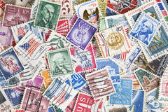Different postage stamps from United States Royalty Free Stock Images