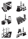 Different power plants Royalty Free Stock Photography