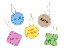 Different price tags. Vector illustration of different price tags Stock Photos