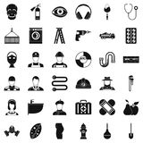 Different profession icons set, simple style. Different profession icons set. Simple style of 36 different profession vector icons for web isolated on white Stock Images