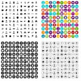 100 different professions icons set vector variant Royalty Free Stock Photos
