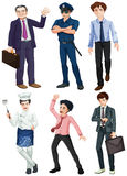Different professions of men Stock Image