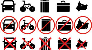 Different prohibitions Royalty Free Stock Photo