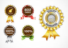Different promotional labels Stock Image