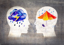 Different psyche people Royalty Free Stock Images