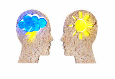 Different psyche people Stock Images