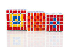 Different puzzle cubes Royalty Free Stock Photography