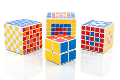 Different puzzle cubes Royalty Free Stock Photos