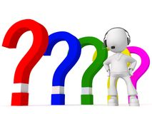 Different questions Stock Image