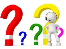 Different questions(headphones) Royalty Free Stock Photos