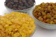 Different raisins. Three different types of raisins Stock Image