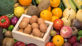 Different raw foods Royalty Free Stock Photo