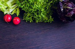 Different raw vegetables background Royalty Free Stock Image