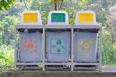 Different recycle bins. Stock Photography
