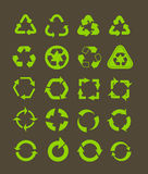 Different recycle icons. Collection of different recycle icons Stock Photo