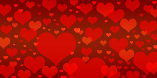 Different Red Heart Shape Background. For wallpaper, background, backdrop, banner ,etc Stock Photography
