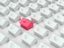 Different red house Royalty Free Stock Photography