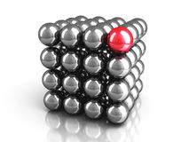 Different Red Sphere As Leadership Concept Stock Photos