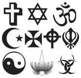 Different religions symbols Stock Photos
