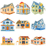 Different Residential Building Royalty Free Stock Photos