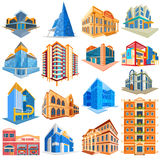 Different Residential and Commercial Building Royalty Free Stock Photo