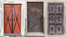 Different retro doors Royalty Free Stock Images