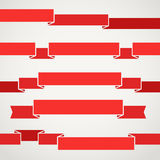 Different retro style red ribbons Stock Photo