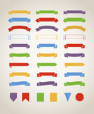 Different retro style red ribbons set  on white Royalty Free Stock Image