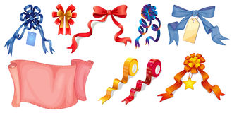Different ribbon designs Royalty Free Stock Photography