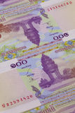 Different Riel banknotes from Cambodia Stock Images