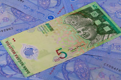 Different Ringgit banknotes from Malaysia Stock Photos