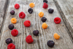 Different ripe berries Royalty Free Stock Image