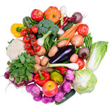 Different ripe vegetables isolated Stock Photos