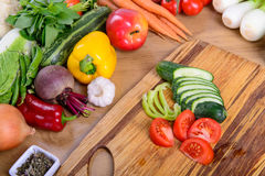 Different ripe vegetables Royalty Free Stock Images